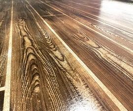 DIY Faux Wood Concrete Floors