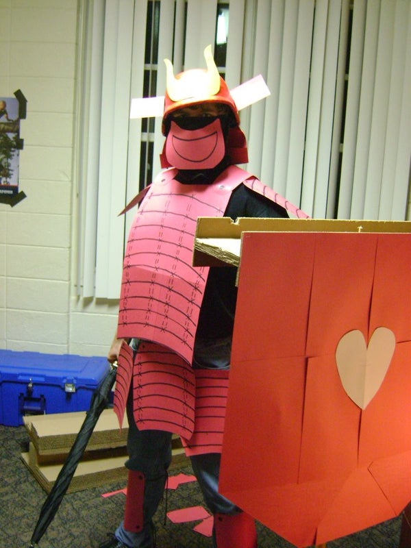 Samurai on a Dime! a Construction Paper Samurai Costume~
