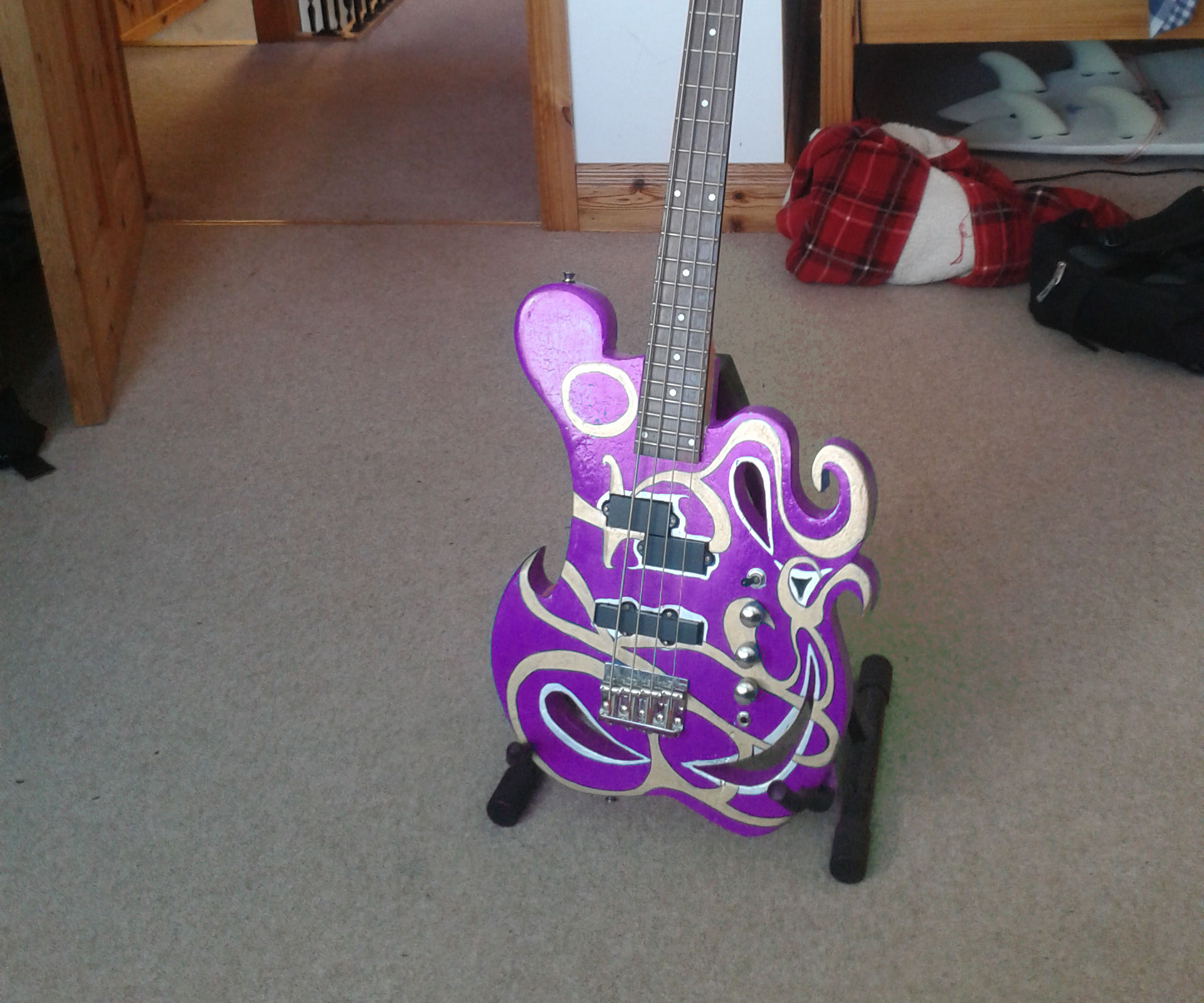 Prince Inspired Bass Guitar