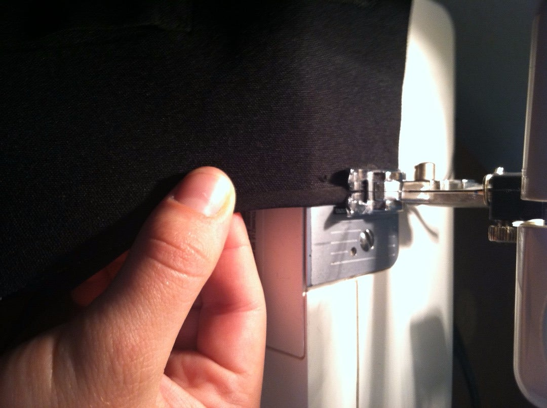 Sewing the Shoulder Seams and Hemming the Arm Holes