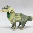 DOLLAR MONEY ORIGAMI DOG