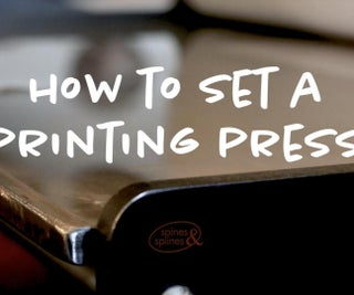 How to Set an Etching Press to Print Intaglio or Relief Style