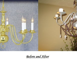 DIY Electric to Candle Chandelier Up-cycle