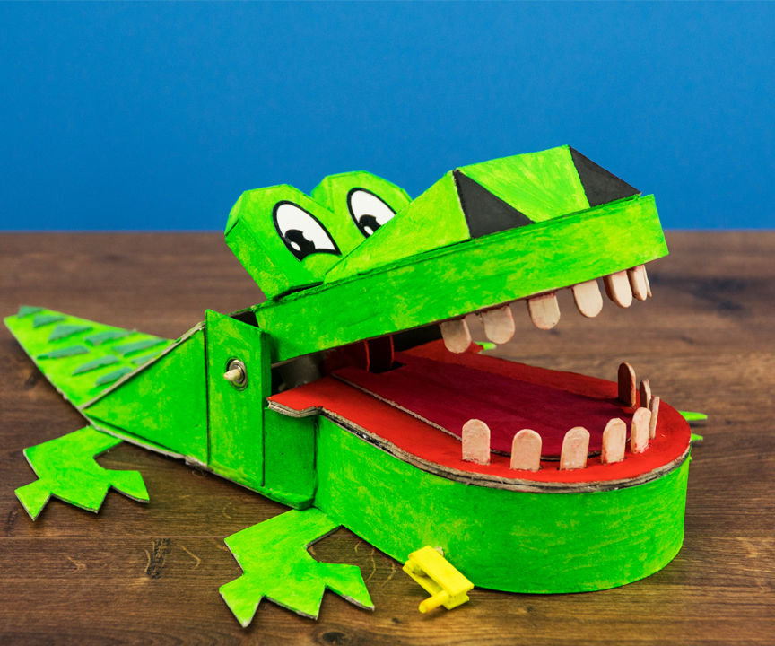 HOW TO MAKE CROCODILE DENTIST GAME FOR HALLOWEEN PARTY