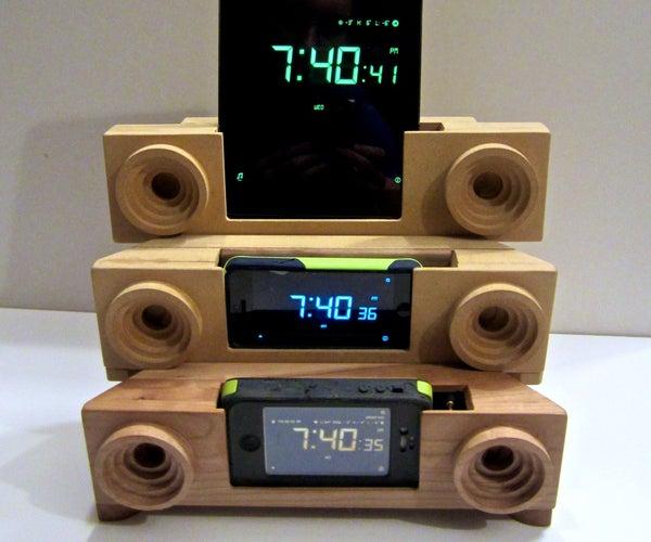 CNC Solid Wood Universal Alarm Clock Dock
