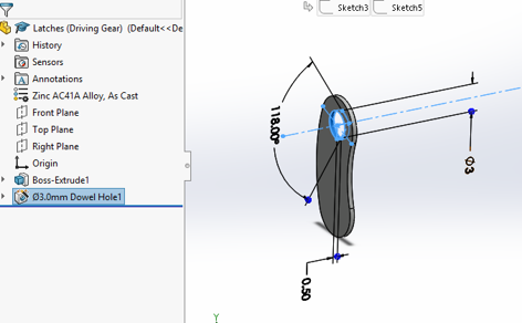 Designing the Latches in Solidworks