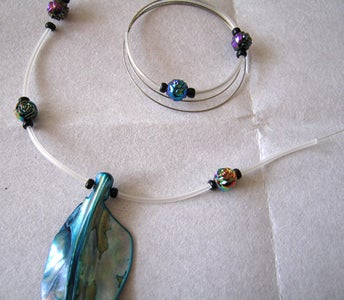 Alternating Beads and Tubing.