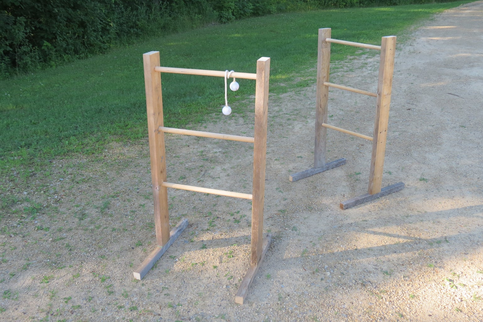 Ladder Ball From Reclaimed Wood