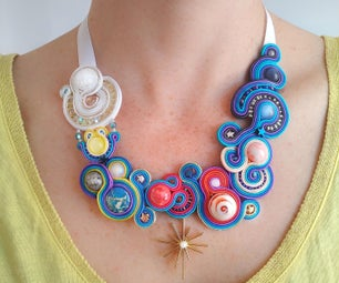 """Necklace """"Dream in the Center of the Solar System"""" ⭐"""