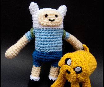 Adventure Time - Finn the Human, Jake the Dog dolls