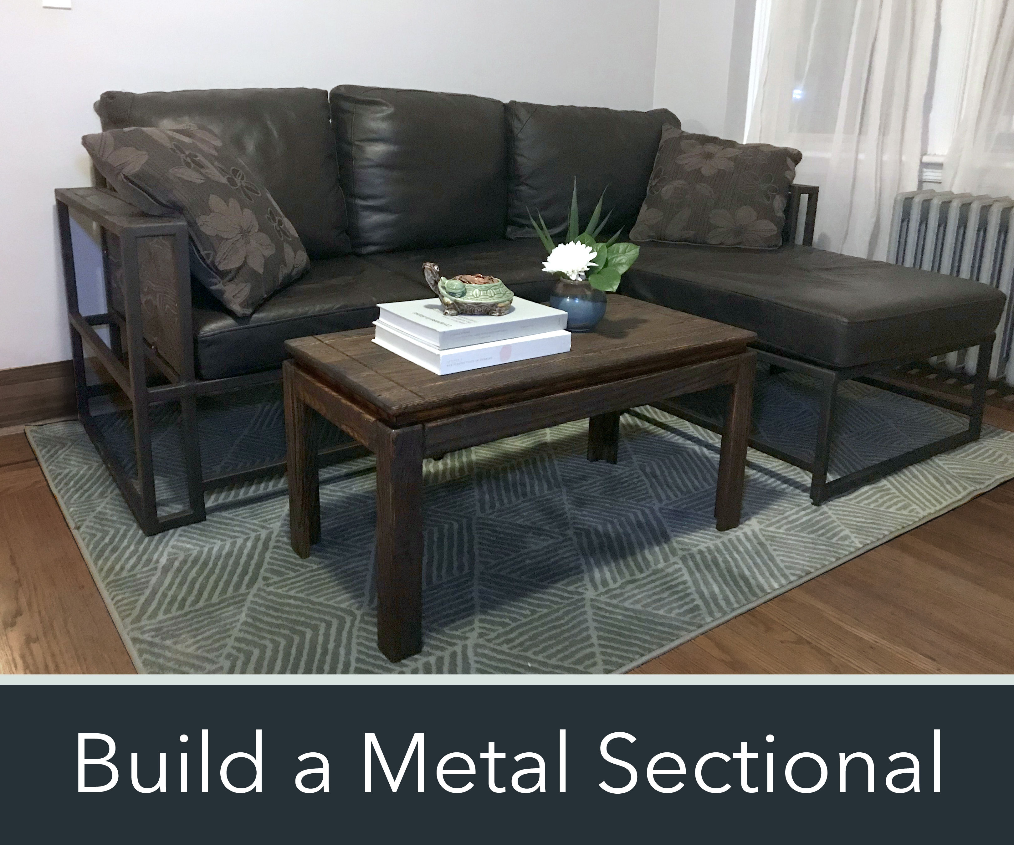 How to Make a Modern Metal & Wood Sectional