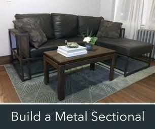 How to Make a Modern Metal & Wood Sectional Sofa