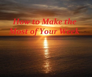 Simple Time Management - Plan Your Week