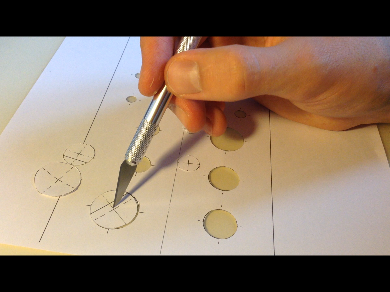 Tracing Buttons Holes