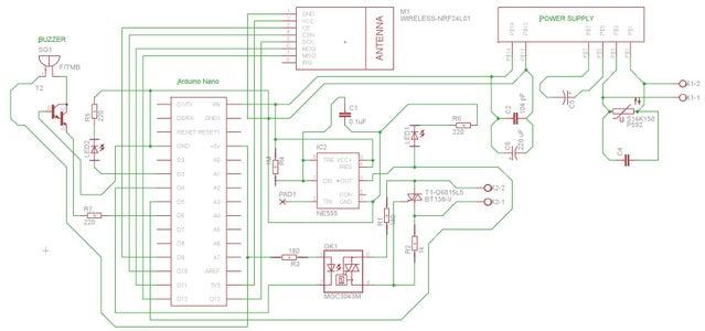 Diagráma Esquemático Del Interruptor Y PCB Del Interruptor: