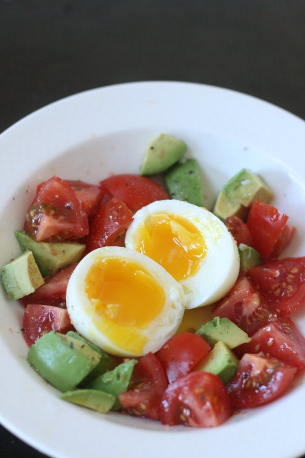 Soft Egg With Avocado and Tomatoes