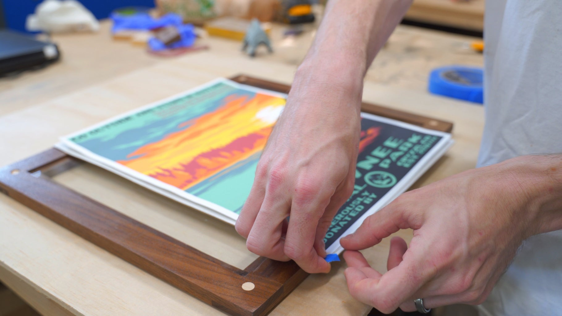 Tape the Print to the Backerboard