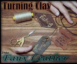 How to Make Polymer Clay Look Like Leather