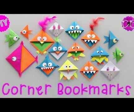 DIY CORNER BOOKMARKS - EASY & FUN!