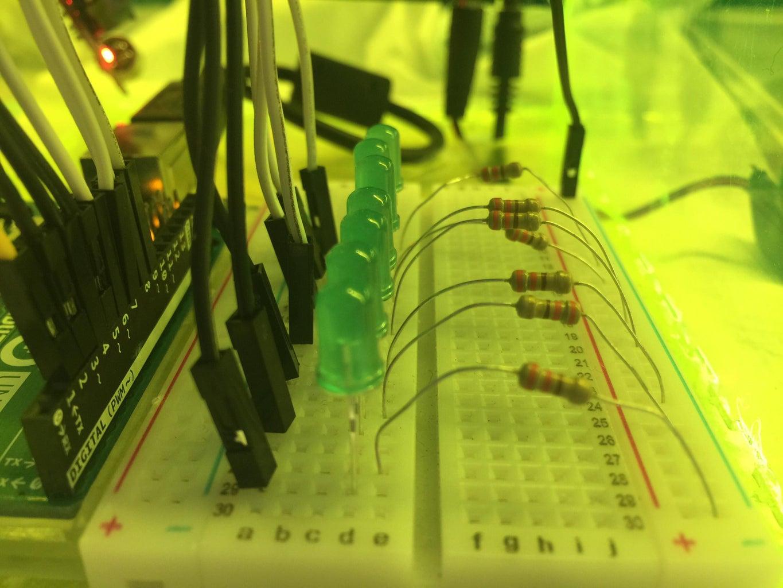 Putting Together the Sound Sensitive LEDs