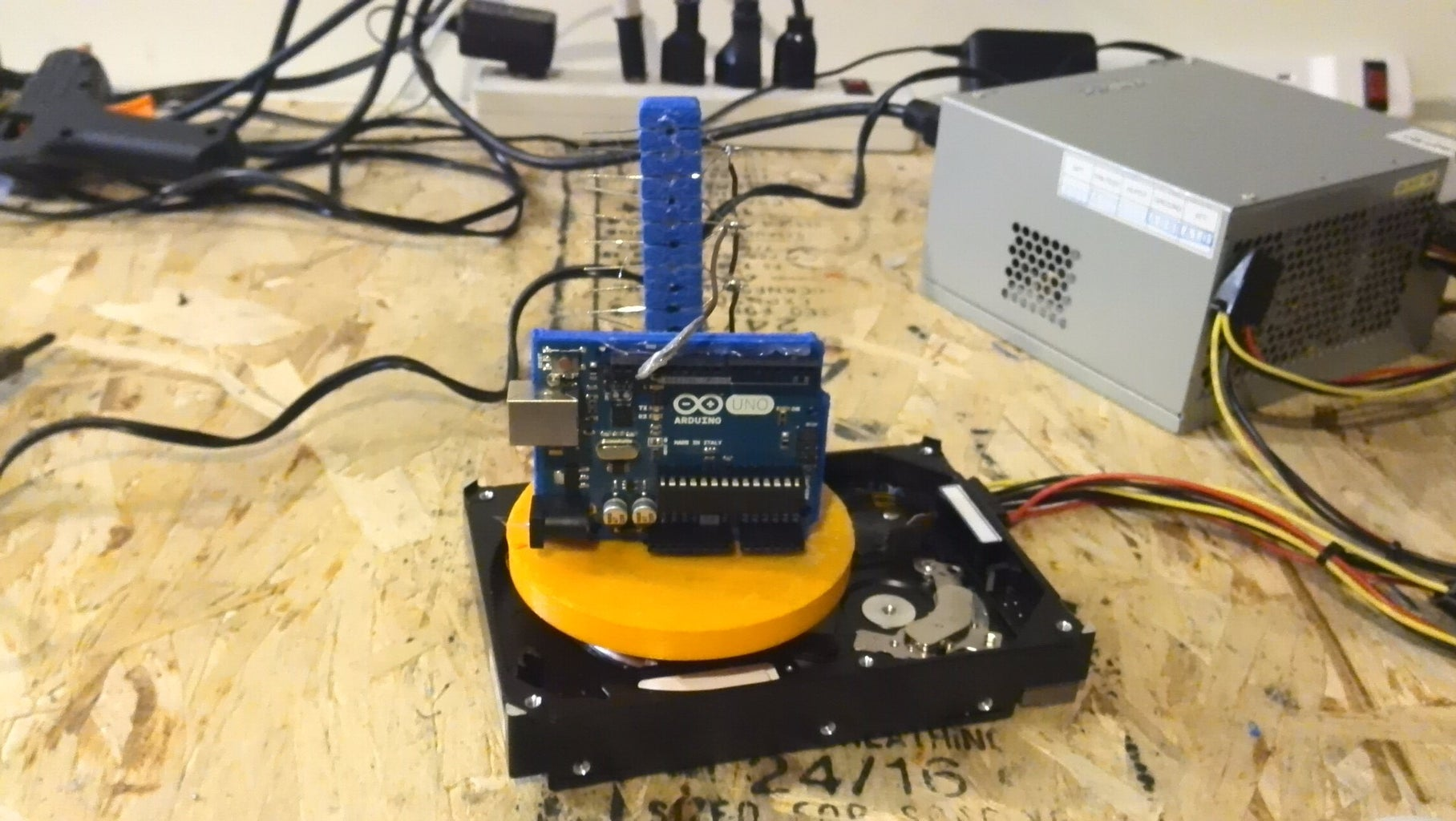 Mount 9V Battery Pack Holder and Arduino Holder