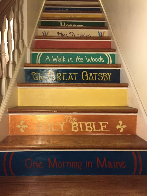 Painted Book Staircase