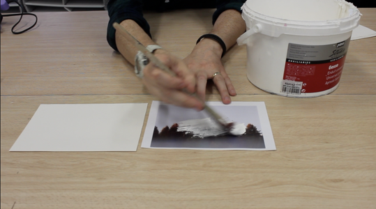 Step 1: Paint Over the Image With Emulsion/Gesso Paint