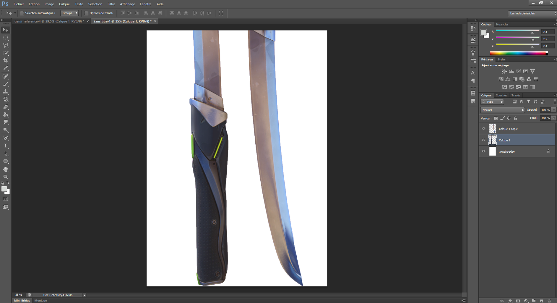 Use the Reference Kit to Print  3 Times (A4 Format) Models for the Two Blades