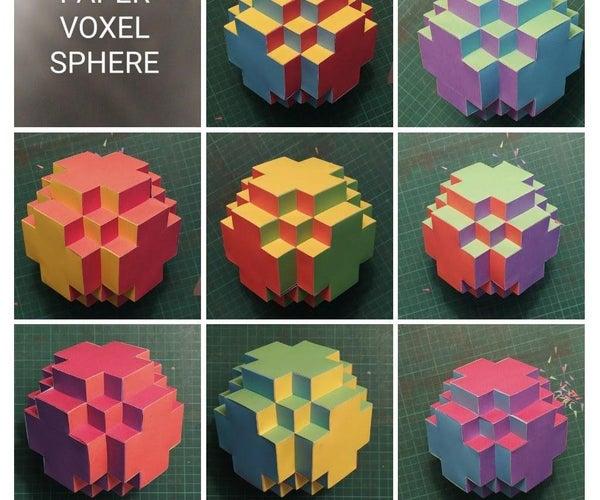 Paper Voxel Sphere