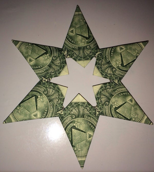 Dollar Bill Origami 5 or 6 Point Money Star