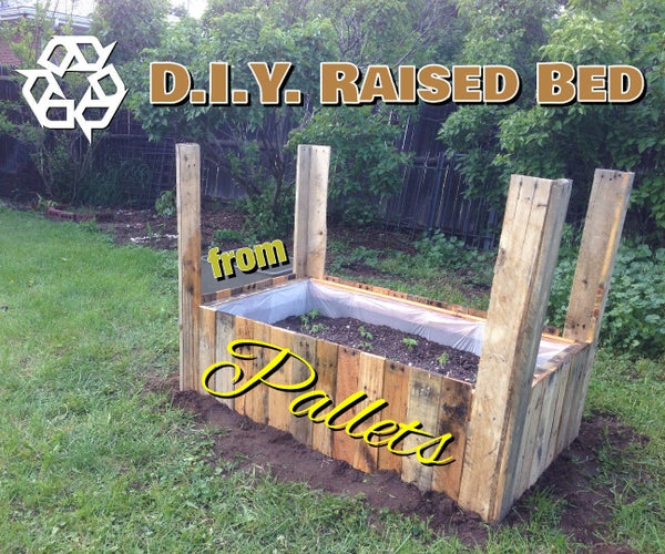 Raised Bed Pallet Planter *Updated August 21st, 2015*