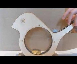 Laser Cut Bird Bank