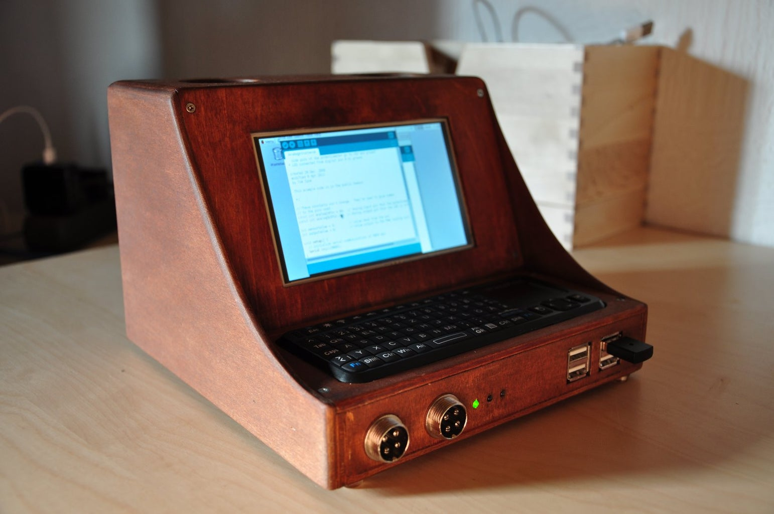 From the Paper Prototype to the Wooden Retro Case