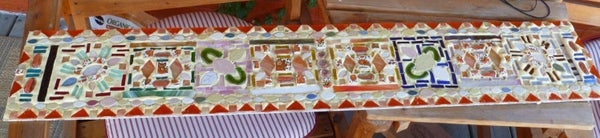 Mosaic: Glass, Ceramic & Gorilla Glue!