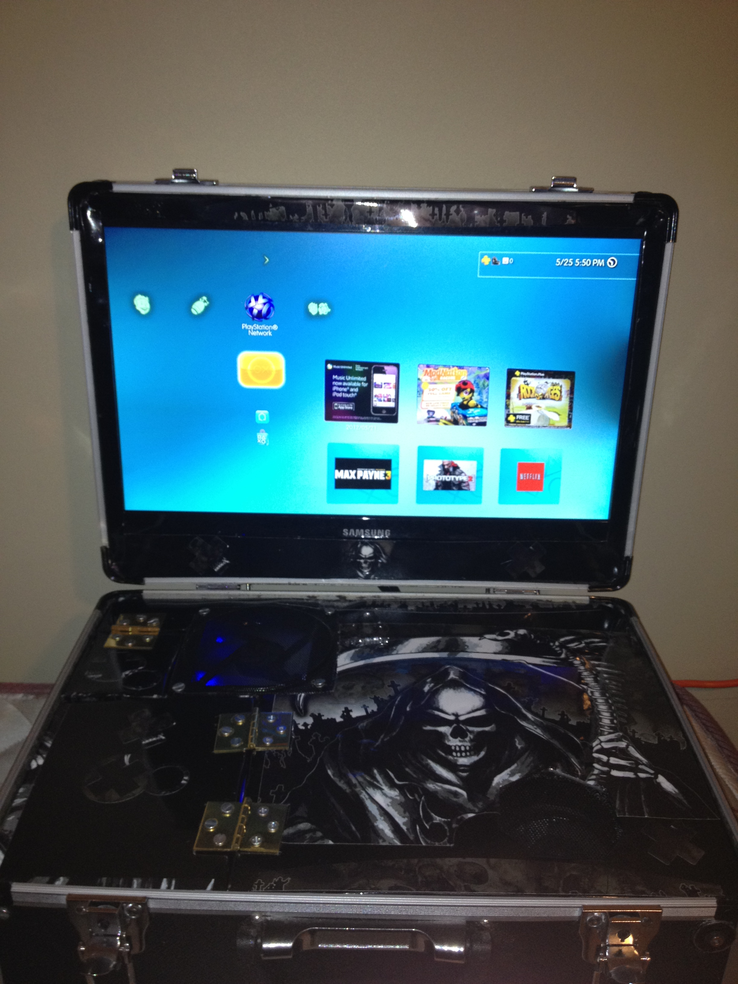 my homemade ps3 portable