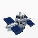 3D printed Satellite Keyholder