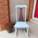 How to Prevent Paint Bleed: Grain Sack Stencil Rocking Chair