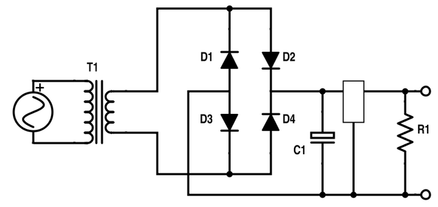 AC to DC Power Using a Full Wave Rectifier