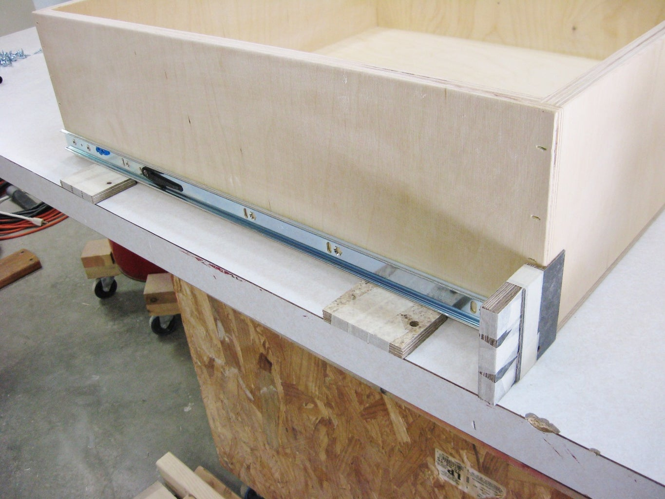 Install Drawer Guides on Drawers