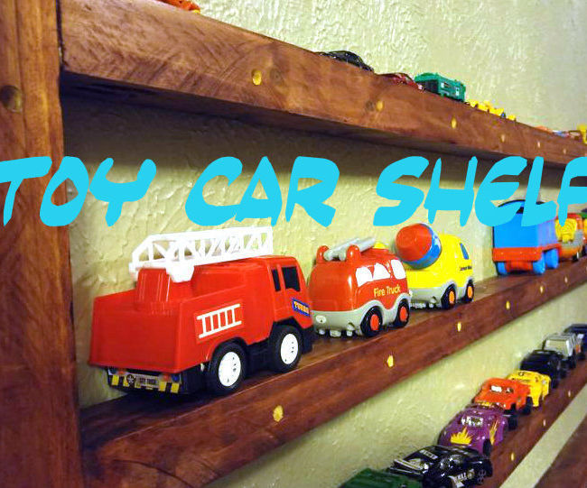 """Toy Car Shelf (Made from 2"""" x 4""""s)"""