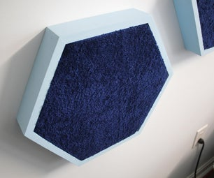 Soundproof Hexagons Made With Towels & Scrap Wood