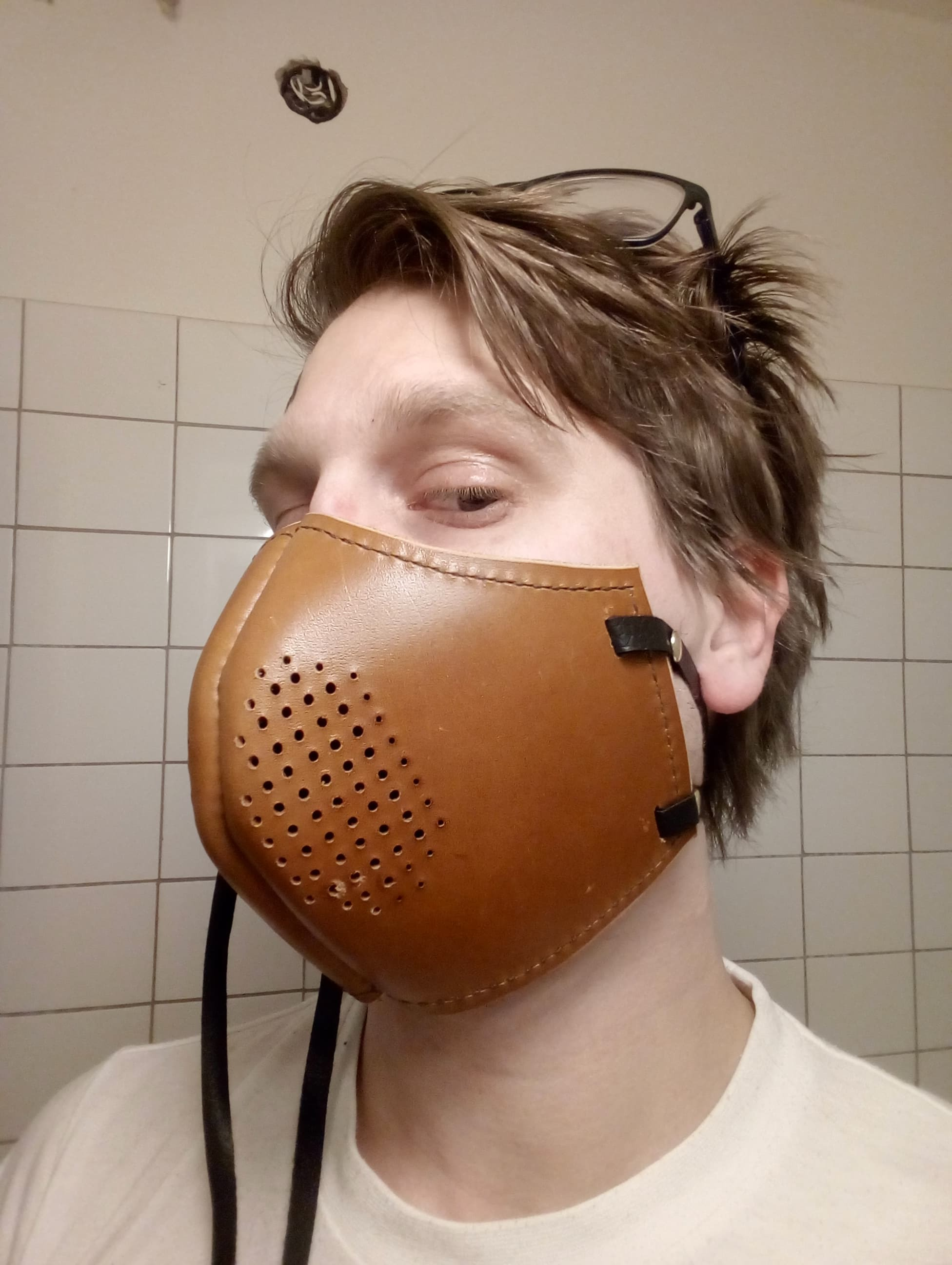 Making a Leather Steampunk Mask