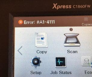 Samsung C1860 Laser Printer Error A1-4111 Repair