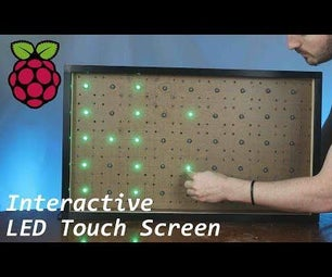 Interactive LED Touch Screen Using the Raspberry Pi