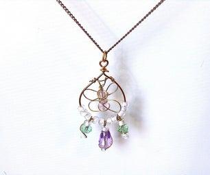 Wire Butterfly Necklace (or Earrings)
