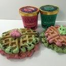2 ingredient Ice Cream Waffles