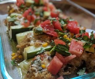 Garden Veggie Stuffed Zucchini Boats