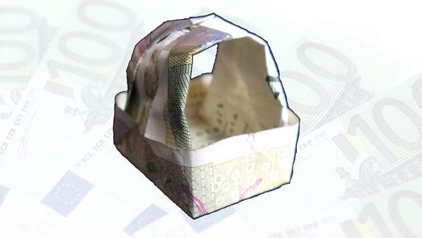 Money Origami Basket