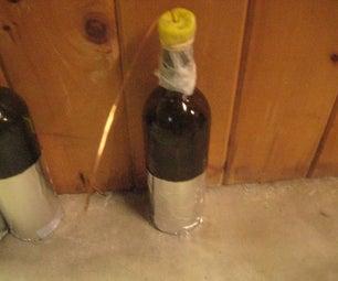 Wine Bottle Capacitors