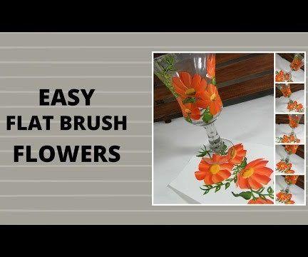 EASY FLAT BRUSH FLOWERS